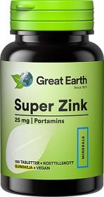 Bild på Great Earth Super Zink 25 mg 100 tabletter
