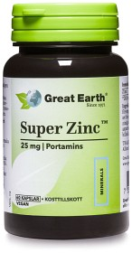 Bild på Great Earth Super Zinc 25 mg 60 kapslar