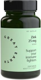 Bild på Great Earth Zink 25 mg 60 kapslar