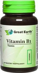 Bild på Great Earth Vitamin B1, 60 Tabletter