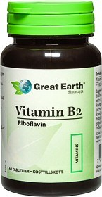 Bild på Great Earth Vitamin B2 60 tabletter