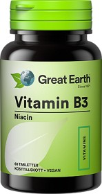 Bild på Great Earth Vitamin B3 60 tabletter