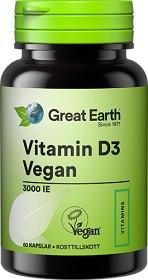 Bild på Great Earth Vitamin D3 Vegan 3000 IE 60 kapslar