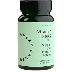 Bild på Great Earth Vitamin D3/K2 50 µg 60 kapslar