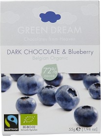 Bild på Green Dream Dark Chocolate & Blueberry 55 g