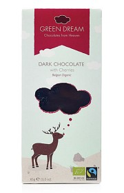 Bild på Green Dream Dark Chocolate with Cherries 85 g