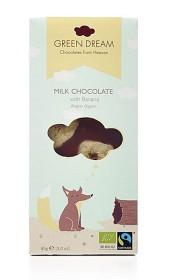 Bild på Green Dream Milk Chocolate with Banana 85 g