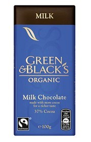 Bild på Green & Blacks Milk Chocolate 100 g