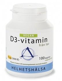 Bild på Helhetshälsa D3-vitamin Vegan 75 µg 100 kapslar