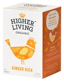 Bild på Higher Living Ginger Kick 15 tepåsar