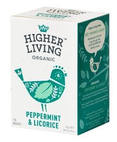 Bild på Higher Living Peppermint & Licorice 15 tepåsar