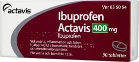 Bild på Ibuprofen Actavis, filmdragerad tablett 400 mg 30 st