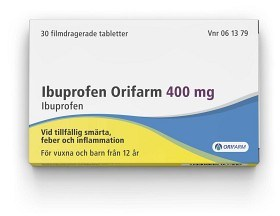 Bild på Ibuprofen Orifarm, tablett 400 mg 30 st