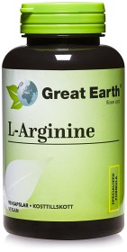 Bild på Great Earth L-Arginine 500 mg 90 kapslar