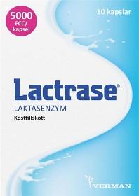 Bild på Lactrase laktasenzym, kapslar 10 st