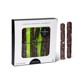 Bild på Lakritsfabriken Chocolate Glazed Liquorice Sticks Frosty 180 g