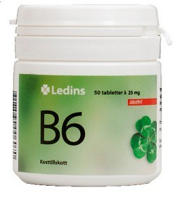 Bild på Ledins B6 Vitamin 25mg, 50 tabletter