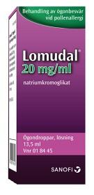 Bild på Lomudal, ögondroppar, lösning 20 mg/ml 13,5 ml