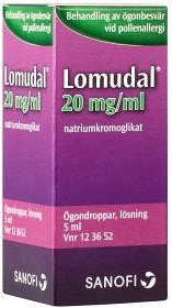 Bild på Lomudal, ögondroppar, lösning 20 mg/ml 5 ml