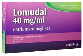 Bild på Lomudal, ögondroppar, lösning i endosbehållare 40 mg/ml 20 x 1 dos(er)