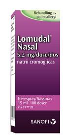 Bild på Lomudal Nasal, nässpray, lösning 5,2 mg/dos sanofi-aventis AB 100 dos(er)