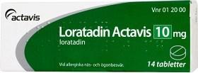 Bild på Loratadin Actavis, tablett 10 mg 14 st