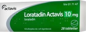 Bild på Loratadin Actavis, tablett 10 mg 28 st
