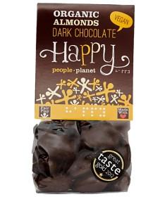 Bild på Happy People Planet Mandlar Mörk choklad 120 g