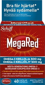 Bild på MegaRed Krillolja 500 mg 40 kapslar