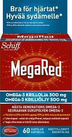 Bild på MegaRed Krillolja 500 mg 60 kapslar