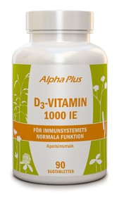 Bild på Alpha Plus D3-vitamin 1000 IE 90 sugtabletter