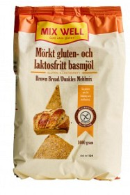 Bild på MixWell Mörkt gluten- & laktosfritt basmjöl 1000 g