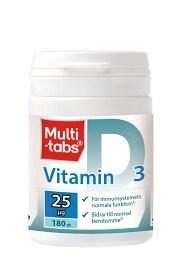 Bild på Multi-tabs Vitamin D3 25 mikrogram 180 tabletter