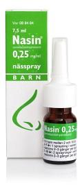 Bild på Nasin, nässpray, lösning 0,25 mg/ml 7,5 ml