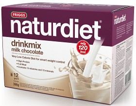 Bild på Naturdiet Drinkmix Mjölkchoklad 12 portioner