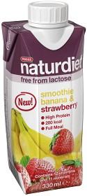 Bild på Naturdiet Laktosfri Smoothie Banana & Strawberry 330 ml