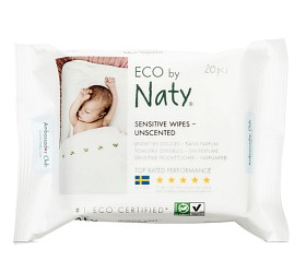 Bild på Naty Sensitive Wipes Unscented 20 st
