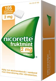 Bild på Nicorette Fruktmint, medicinskt tuggummi 2 mg 105 st