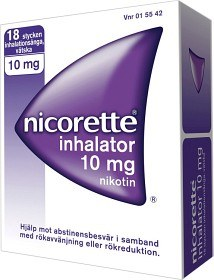 Bild på Nicorette Inhalator, inhalationsånga, vätska 10 mg 18 st