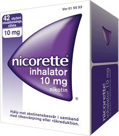 Bild på Nicorette Inhalator, inhalationsånga, vätska 10 mg 42 st