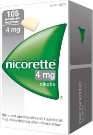 Bild på Nicorette, medicinskt tuggummi 4 mg 105 st