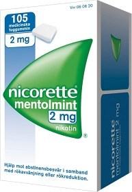 Bild på Nicorette Mentolmint, medicinskt tuggummi 2 mg 105 st