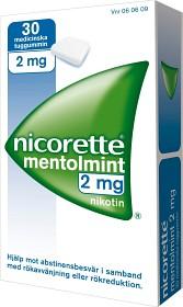 Bild på Nicorette Mentolmint, medicinskt tuggummi 2 mg 30 st