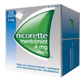 Bild på Nicorette Mentolmint, medicinskt tuggummi 4 mg 210 st