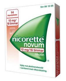 Bild på Nicorette Novum, depotplåster 10 mg/16 timmar 14 st