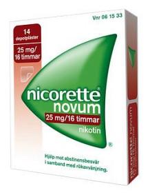 Bild på Nicorette Novum, depotplåster 25 mg/16 timmar 14 st