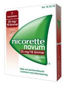 Bild på Nicorette Novum, depotplåster 25 mg/16 timmar 7 st