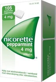 Bild på Nicorette Pepparmint, medicinskt tuggummi 4 mg 105 st