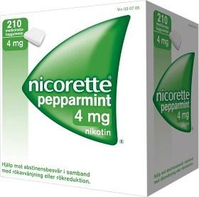 Bild på Nicorette Pepparmint, medicinskt tuggummi 4 mg 210 st