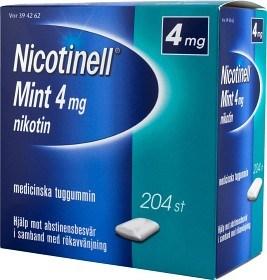 Bild på Nicotinell Mint, medicinskt tuggummi 4 mg 204 st